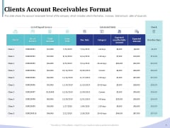 Accounting Bookkeeping Services Clients Account Receivables Format Clipart PDF