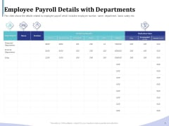 Accounting Bookkeeping Services Employee Payroll Details With Departments Introduction PDF