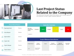 Accounting Bookkeeping Services Last Project Status Related To The Company Sample PDF