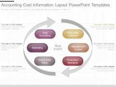 Accounting Cost Information Layout Powerpoint Templates