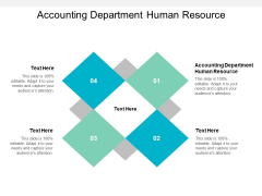 Accounting Department Human Resource Ppt PowerPoint Presentation Inspiration Infographics Cpb