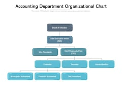 Accounting Department Organizational Chart Ppt PowerPoint Presentation Pictures Graphics