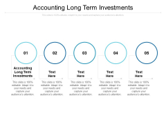 Accounting Long Term Investments Ppt PowerPoint Presentation Outline Visual Aids Cpb