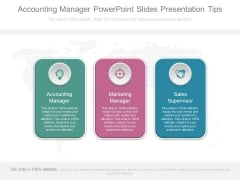 Accounting Manager Powerpoint Slides Presentation Tips