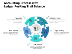 Accounting Process With Ledger Positing Trail Balance Ppt PowerPoint Presentation Pictures Layout