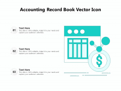 Accounting Record Book Vector Icon Ppt PowerPoint Presentation Show Graphics PDF