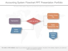 Accounting System Flowchart Ppt Presentation Portfolio