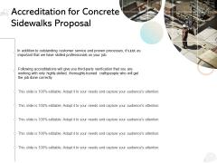 Accreditation For Concrete Sidewalks Proposal Ppt PowerPoint Presentation Summary Slide
