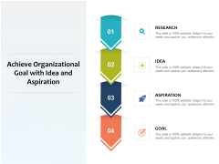 Achieve Organizational Goal With Idea And Aspiration Ppt PowerPoint Presentation File Icon PDF