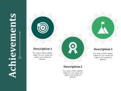 Achievements Ppt PowerPoint Presentation Gallery Mockup