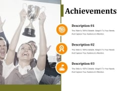 Achievements Ppt PowerPoint Presentation Ideas Graphics