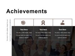 Achievements Ppt PowerPoint Presentation Model Slide