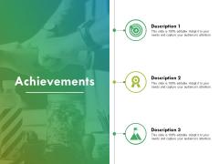 Achievements Ppt PowerPoint Presentation Portfolio Infographic Template