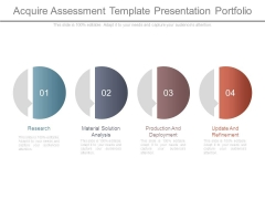 Acquire Assessment Template Presentation Portfolio