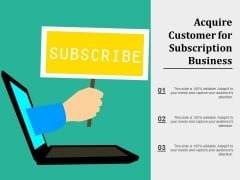 Acquire Customer For Subscription Business Ppt PowerPoint Presentation Icon Images