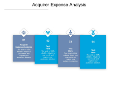 Acquirer Expense Analysis Ppt PowerPoint Presentation Icon Demonstration Cpb Pdf