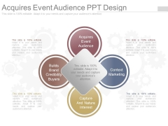 Acquires Event Audience Ppt Design