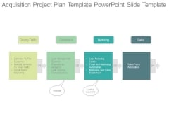 Acquisition Project Plan Template Powerpoint Slide Template