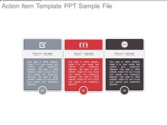 Action Item Template Ppt Sample File