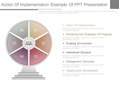 Action Of Implementation Example Of Ppt Presentation