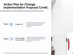 Action Plan For Change Implementation Proposal Contd Ppt PowerPoint Presentation File Model