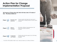 Action Plan For Change Implementation Proposal Ppt PowerPoint Presentation Summary Inspiration