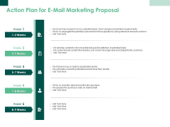 Action Plan For E Mail Marketing Proposal Ppt PowerPoint Presentation Summary Format