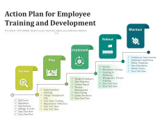 Action Plan For Employee Training And Development Ppt PowerPoint Presentation Ideas Tips PDF
