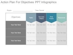 Action Plan For Objectives Ppt Infographics
