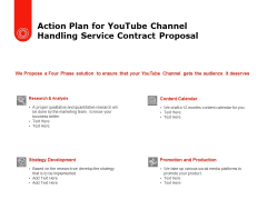 Action Plan For Youtube Channel Handling Service Contract Proposal Ppt PowerPoint Presentation Inspiration Portfolio