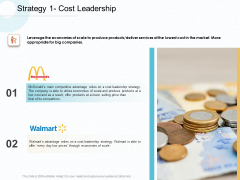 Action Plan Gain Competitive Advantage Strategy Cost Leadership Ppt Layouts Show PDF