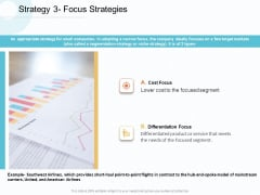 Action Plan Gain Competitive Advantage Strategy Focus Strategies Ppt Summary Clipart PDF