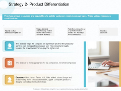 Action Plan Gain Competitive Advantage Strategy Product Differentiation Ppt Infographics Aids PDF
