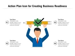 Action Plan Icon For Creating Business Readiness Ppt PowerPoint Presentation Infographics Guide PDF