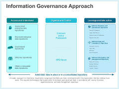 Action Plan Management Infrastructure Information Governance Approach Elements PDF
