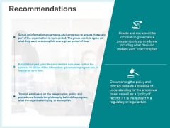 Action Plan Management Infrastructure Recommendations Inspiration PDF