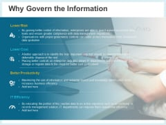 Action Plan Management Infrastructure Why Govern The Information Rules Pdf Ppt Ideas Guide PDF