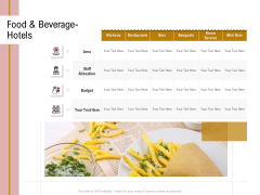 Action Plan Or Hospitality Industry Food Beverage Hotels Brochure PDF