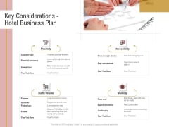 Action Plan Or Hospitality Industry Key Considerations Hotel Business Plan Inspiration PDF