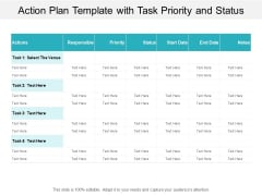 Action Plan Template With Task Priority And Status Ppt PowerPoint Presentation Slides Samples