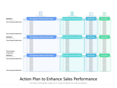 Action Plan To Enhance Sales Performance Ppt PowerPoint Presentation Styles Brochure PDF