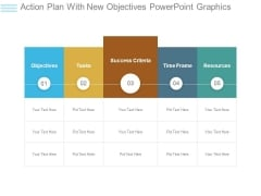 Action Plan With New Objectives Powerpoint Graphics