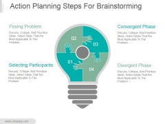 Action Planning Steps For Brainstorming Ppt PowerPoint Presentation Tips