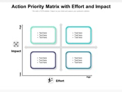 Action Priority Matrix With Effort And Impact Ppt PowerPoint Presentation Infographics Graphics Example PDF