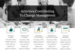 Activities Contributing To Change Management Ppt PowerPoint Presentation Ideas Slide