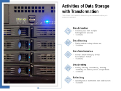 Activities Of Data Storage With Transformation Ppt PowerPoint Presentation File Themes PDF