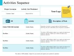 Activities Sequence Management Ppt PowerPoint Presentation Slides Portrait