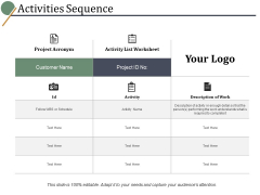 Activities Sequence Ppt PowerPoint Presentation File Infographic Template