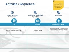 Activities Sequence Ppt PowerPoint Presentation Gallery Sample