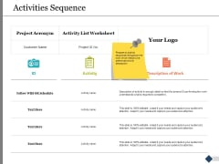 Activities Sequence Ppt PowerPoint Presentation Outline Portfolio